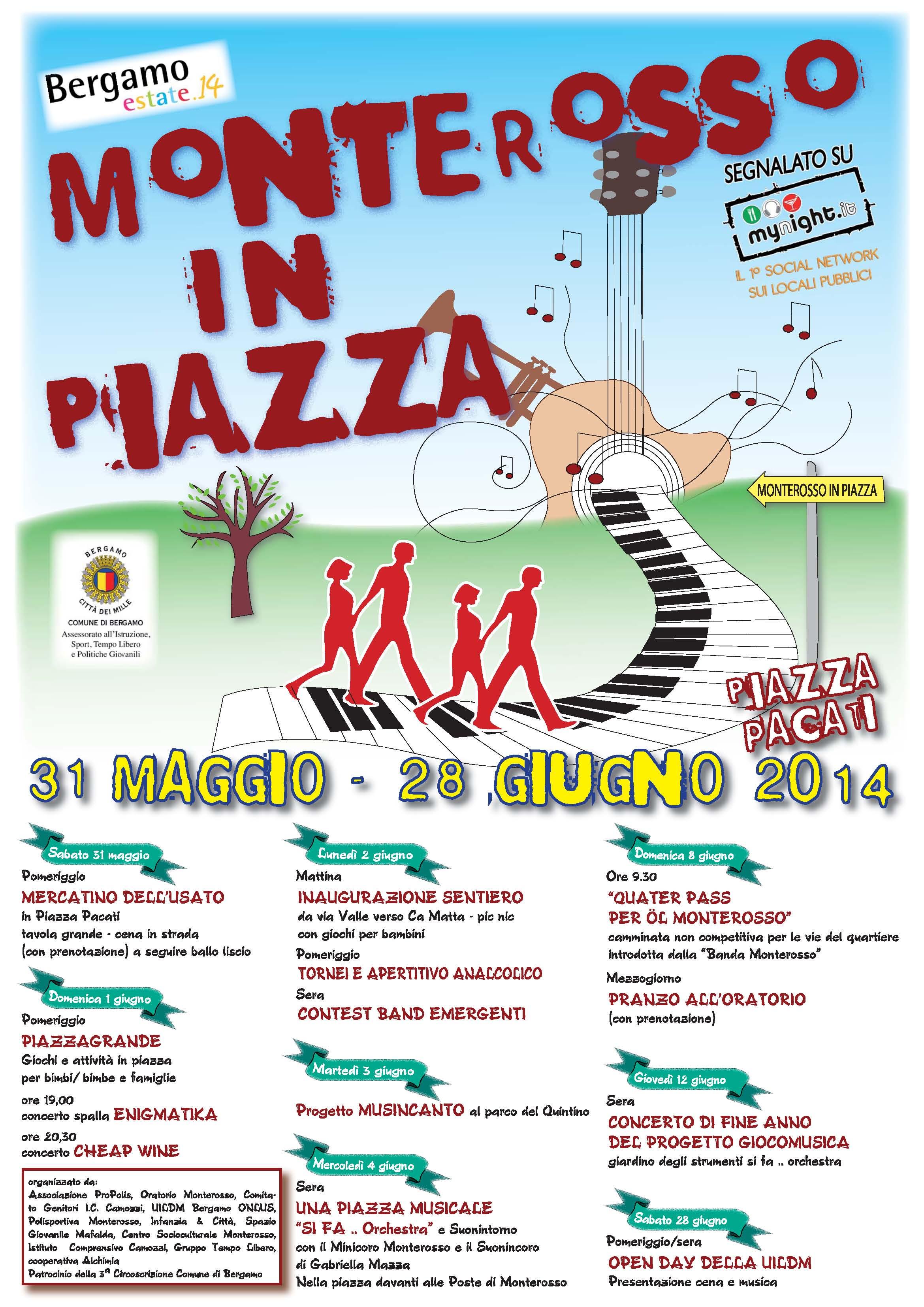 Monterosso in piazza - programma 2014